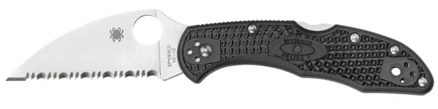 Delica Wharncliffe Serrated Knife Edge